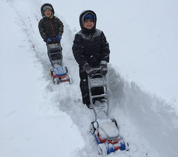 """<div class=""""meta image-caption""""><div class=""""origin-logo origin-image none""""><span>none</span></div><span class=""""caption-text"""">Connor and Tyler broke out the """"snow blowers"""" for the big storm.  (Action News Viewer )</span></div>"""