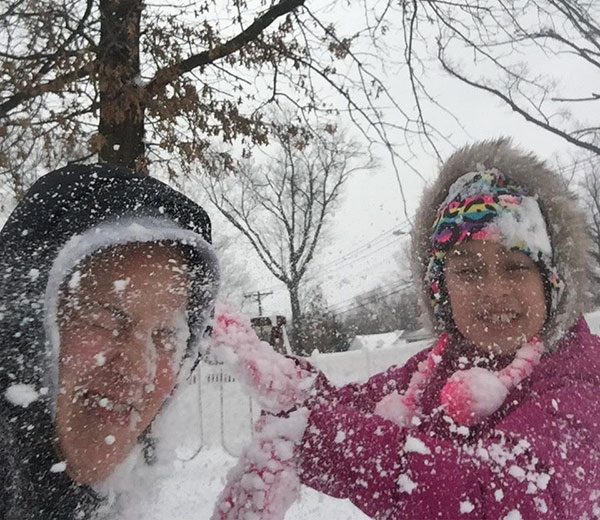 """<div class=""""meta image-caption""""><div class=""""origin-logo origin-image none""""><span>none</span></div><span class=""""caption-text"""">Mom Jenn gets snow bombed by her daughter Jaylynn.  (Action News Viewer )</span></div>"""