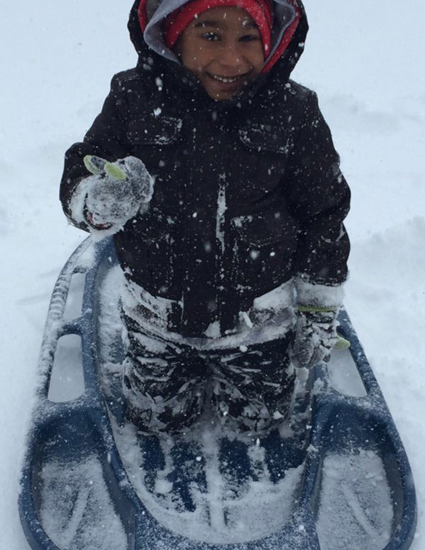 """<div class=""""meta image-caption""""><div class=""""origin-logo origin-image none""""><span>none</span></div><span class=""""caption-text"""">Kaiden Glasco enjoys some snow surfing in Kennett Square, Pa.  (Action News Viewer )</span></div>"""