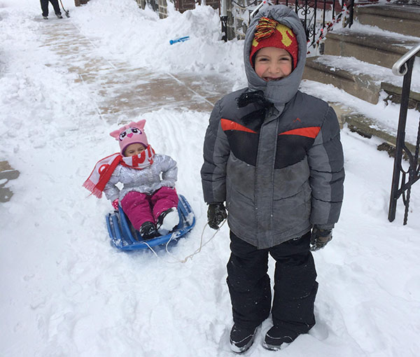 """<div class=""""meta image-caption""""><div class=""""origin-logo origin-image none""""><span>none</span></div><span class=""""caption-text"""">Shane pulls his little sister, Rosalina, on a sled in the snow.  (Action News Viewer )</span></div>"""