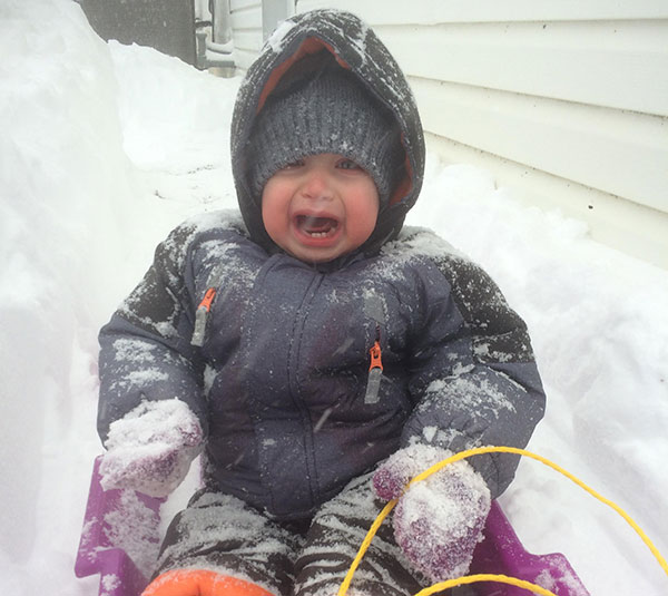 """<div class=""""meta image-caption""""><div class=""""origin-logo origin-image none""""><span>none</span></div><span class=""""caption-text"""">It's safe to say 17-month-old Xander is not a fan of snow.  (Action News Viewer )</span></div>"""