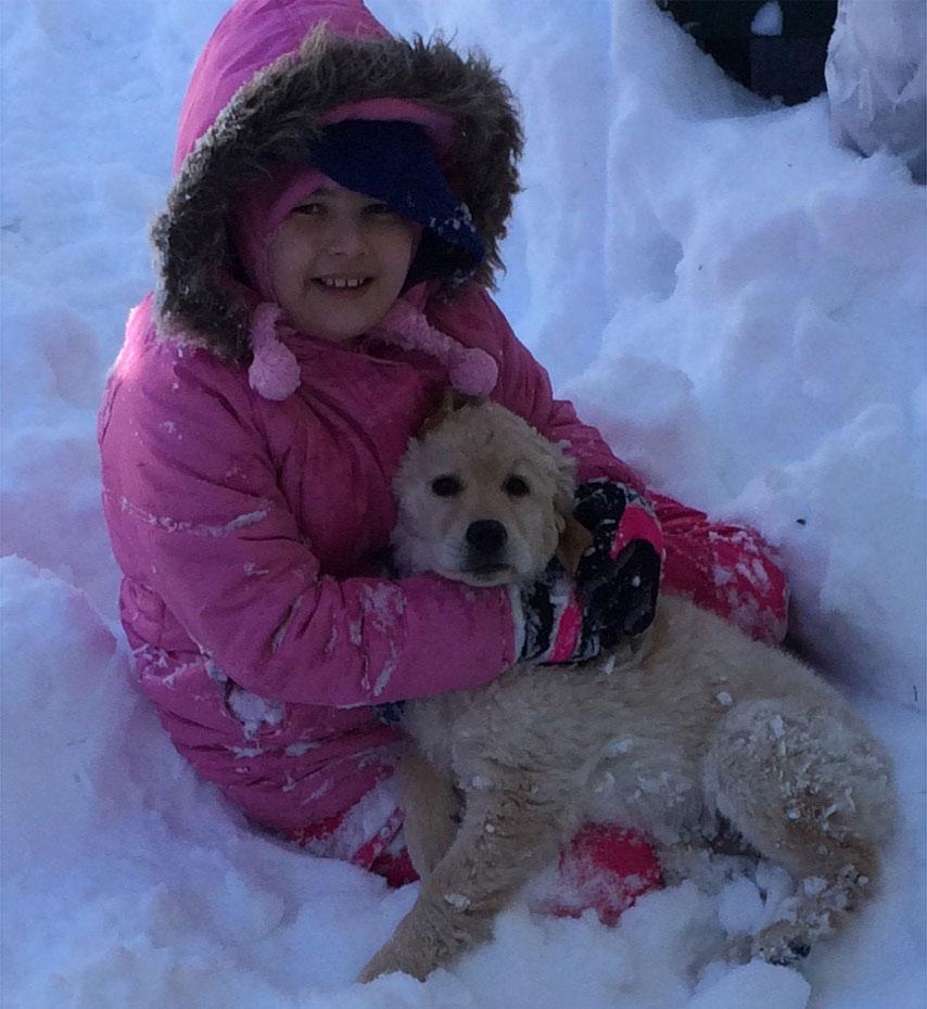 "<div class=""meta image-caption""><div class=""origin-logo origin-image none""><span>none</span></div><span class=""caption-text"">Bianca, 9, and her puppy enjoy the snow in Burlington, New Jersey.  (Kristi )</span></div>"