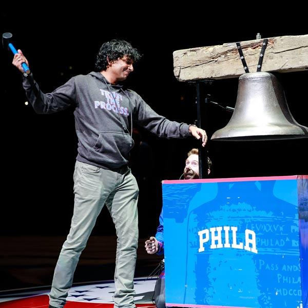 "<div class=""meta image-caption""><div class=""origin-logo origin-image none""><span>none</span></div><span class=""caption-text"">M. Night Shyamalan ringing the Sixers ceremonial Liberty Bell (Philadelphia 76ers)</span></div>"