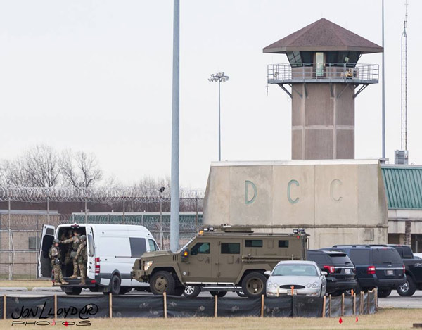 <div class='meta'><div class='origin-logo' data-origin='WPVI'></div><span class='caption-text' data-credit='Jon Lloyd'>Photographer Jon Lloyd captured these images of the hostage situation at the Delaware state prison in Smyrna.</span></div>