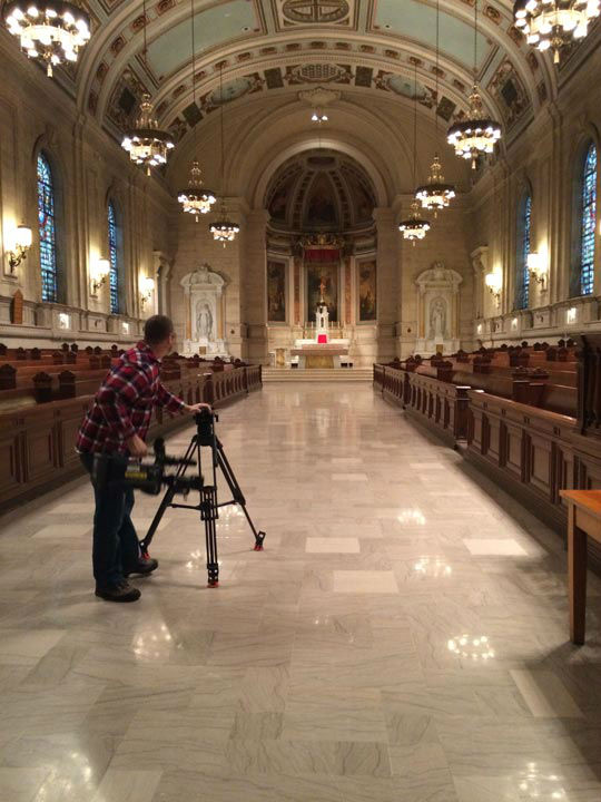 <div class='meta'><div class='origin-logo' data-origin='none'></div><span class='caption-text' data-credit='WPVI Photo'>Action News took a tour of the St. Charles Borromeo Seminary in Wynnewood, Pa.</span></div>
