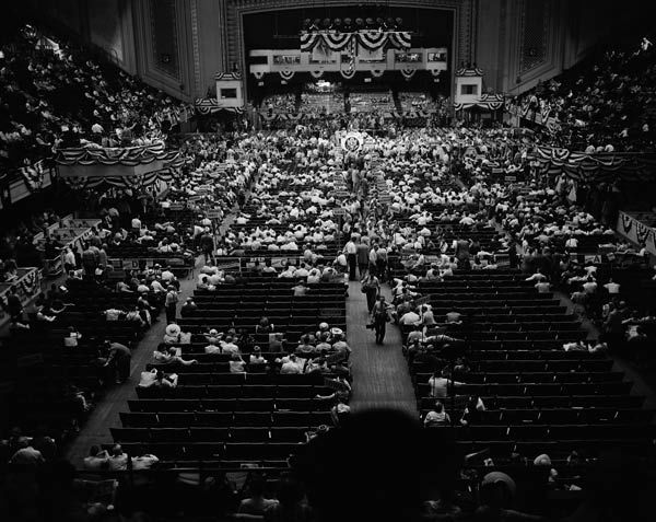 """<div class=""""meta image-caption""""><div class=""""origin-logo origin-image none""""><span>none</span></div><span class=""""caption-text"""">This was the scene at the Democratic National Convention in Philadelphia, Pa., as the few delegates and spectators present listen to speeches, July 13, 1948.  (AP Photo)</span></div>"""