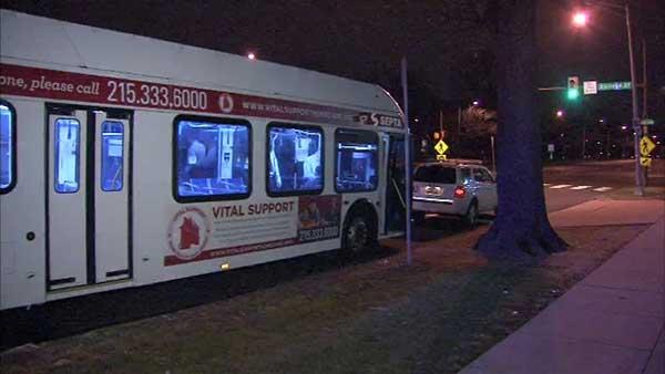 <div class='meta'><div class='origin-logo' data-origin='none'></div><span class='caption-text' data-credit=''>Police say a woman was taken from a SEPTA bus after violent confrontations along Roosevelt Boulevard.</span></div>