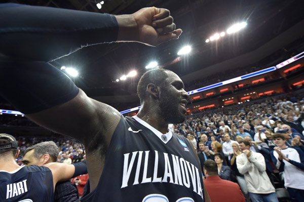 "<div class=""meta image-caption""><div class=""origin-logo origin-image ap""><span>AP</span></div><span class=""caption-text"">Villanova forward Daniel Ochefu (23) walks off the court after a regional final men's college basketball game against Kansas in the NCAA Tournament, Saturday, March 26, 2016. (AP Photo/John Flavell)</span></div>"
