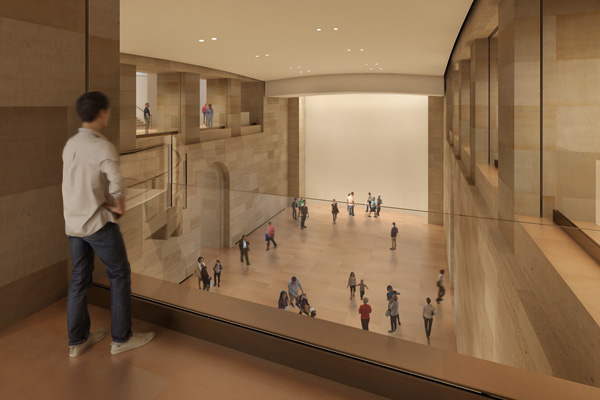<div class='meta'><div class='origin-logo' data-origin='none'></div><span class='caption-text' data-credit=''>Rendering of the Forum as seen from A Level, by Gehry Partners for the Philadelphia Museum of Art</span></div>