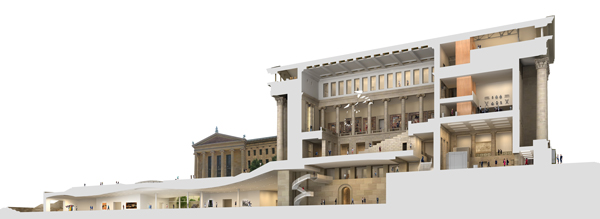 <div class='meta'><div class='origin-logo' data-origin='none'></div><span class='caption-text' data-credit=''>Representation of both the Core Project and the final phase which will build galleries under the East Terrace.</span></div>