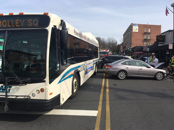 "<div class=""meta image-caption""><div class=""origin-logo origin-image none""><span>none</span></div><span class=""caption-text"">At least one person was seriously injured in a multi-vehicle crash involving a DART bus in Wilmington, Delaware.</span></div>"