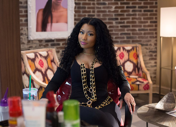 "<div class=""meta image-caption""><div class=""origin-logo origin-image ap""><span>AP</span></div><span class=""caption-text"">In this image released by Warner Bros., Nicki Minaj appears in a scene from ""Barbershop: The Next Cut."" (Chuck Zlotnick/Warner Bros. via AP)</span></div>"