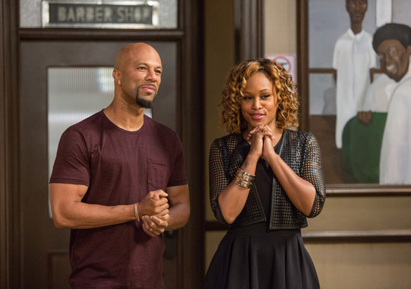 "<div class=""meta image-caption""><div class=""origin-logo origin-image ap""><span>AP</span></div><span class=""caption-text"">In this image released by Warner Bros., Common, left, and Eve appear in a scene from ""Barbershop: The Next Cut."" (Chuck Zlotnick/Warner Bros. via AP)</span></div>"