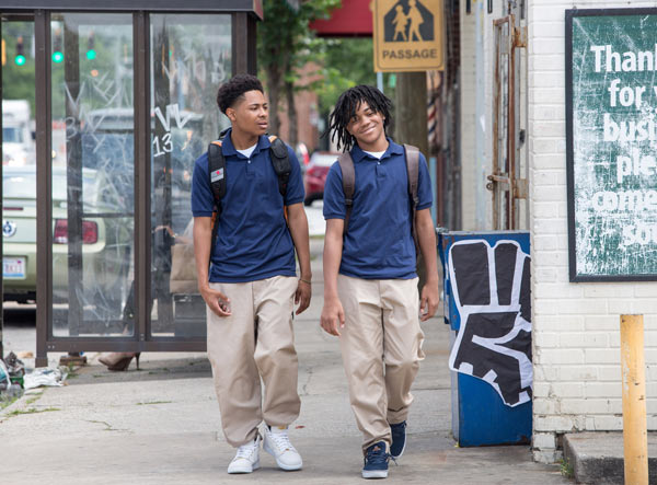 "<div class=""meta image-caption""><div class=""origin-logo origin-image ap""><span>AP</span></div><span class=""caption-text"">In this image released by Warner Bros., Diallo Thompson, left, and Michael Rainey Jr. appear in a scene from ""Barbershop: The Next Cut."" (Chuck Zlotnick/Warner Bros. via AP)</span></div>"