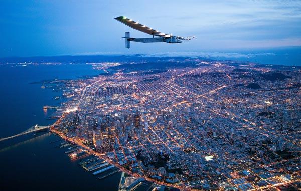 <div class='meta'><div class='origin-logo' data-origin='AP'></div><span class='caption-text' data-credit='AP Photo/Noah Berger'>Solar Impulse 2 flies over San Francisco, Saturday, April 23, 2016.</span></div>