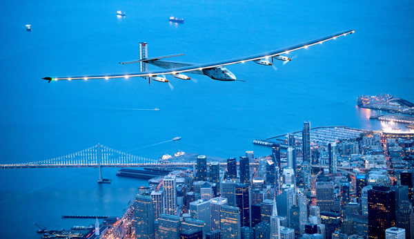 <div class='meta'><div class='origin-logo' data-origin='AP'></div><span class='caption-text' data-credit='AP Photo/Noah Berger'>Solar Impulse 2 flies over San Francisco on Saturday, April 23, 2016.</span></div>
