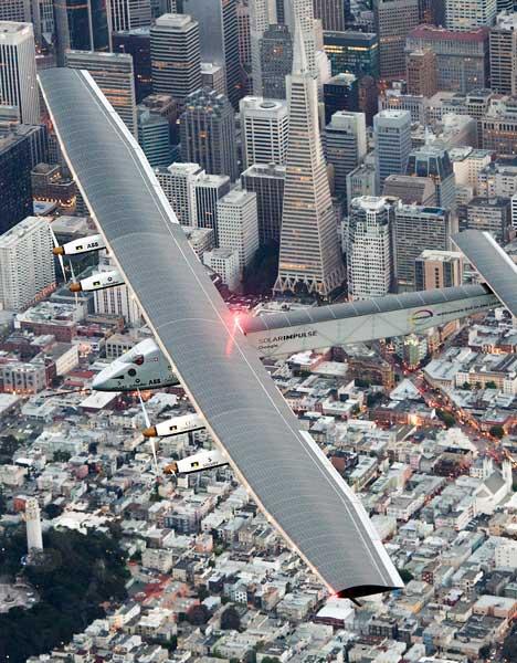 <div class='meta'><div class='origin-logo' data-origin='AP'></div><span class='caption-text' data-credit='AP Photo/Noah Berger'>Solar Impulse 2 flies over San Francisco before landing at Moffett Field on Saturday, April 23, 2016.</span></div>