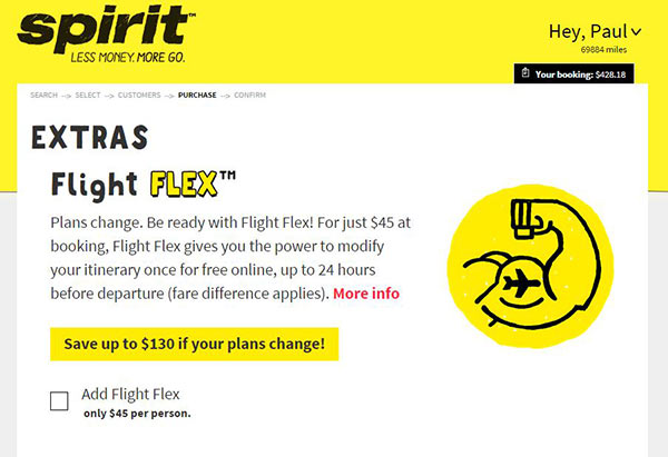 spirit airline booking