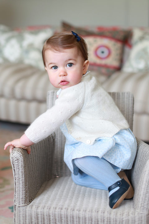 <div class='meta'><div class='origin-logo' data-origin='AP'></div><span class='caption-text' data-credit='Kate, the Duchess of Cambridge/Kensington Palace via AP'>In this undated handout photo released on Sunday, May 1, 2016 by Kensington Palace, Britain's Princess Charlotte poses for a photograph, at Anmer Hall, in Norfolk, England.</span></div>