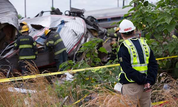 <div class='meta'><div class='origin-logo' data-origin='none'></div><span class='caption-text' data-credit='National Transportation Safety Board'>National Transportation Safety Board member Robert Sumwalt on the scene of the Amtrak train 188 derailment in Philadelphia, Pa.</span></div>