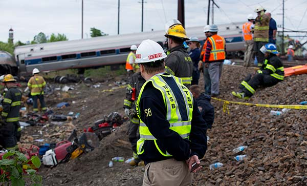 <div class='meta'><div class='origin-logo' data-origin='none'></div><span class='caption-text' data-credit='National Transportation Safety Board'>NTSB Member Robert Sumwalt on the scene of the Amtrak Train #188Derailment in Philadelphia, PA</span></div>