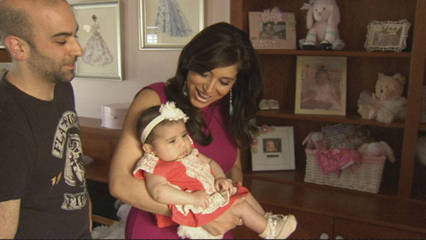 Action News caught up with new mom Alicia Vitarelli, husband Matt and baby Priscilla Isabelle!