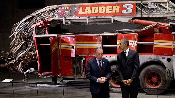 President Barack Obama and former New York City Mayor Michael Bloomberg at the September 11 Memorial Museum. &#40;AP Photo&#47;Carolyn Kaster&#41; <span class=meta>(Photo&#47;Carolyn Kaster)</span>