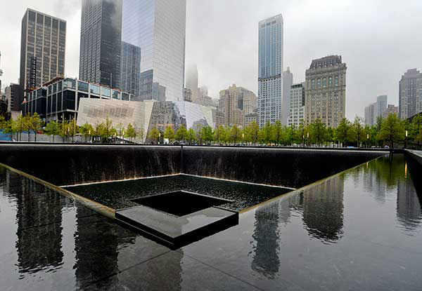 <div class='meta'><div class='origin-logo' data-origin='none'></div><span class='caption-text' data-credit='Photo/Justin Lane'>The entrance to the National September 11 Memorial Museum is shown. (AP Photo/Mark Lennihan)</span></div>