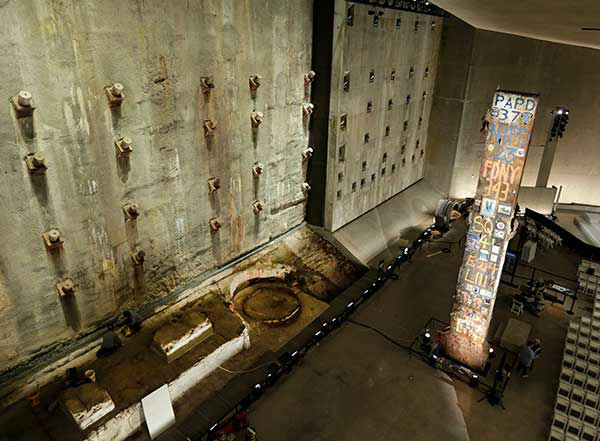 A steel beam from the World Trade Center stands at the center of Foundation Hall on Thursday, May 15, 2014 &#40;AP Photo&#47;The Star-Ledger, John Munson, Pool&#41; <span class=meta>(Photo&#47;Uncredited)</span>