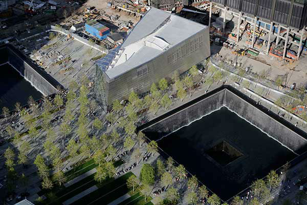 <div class='meta'><div class='origin-logo' data-origin='none'></div><span class='caption-text' data-credit='Photo/Mark Lennihan'>The entrance to the National September 11 Memorial Museum is shown. (AP Photo/Mark Lennihan)</span></div>