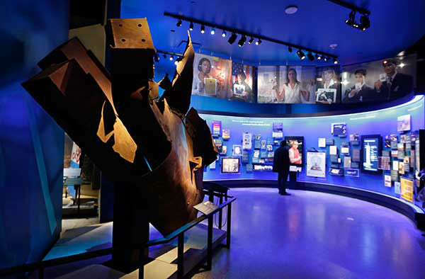 Steel from the World Trader Center north tower floors 97 and 98, left, is displayed at the National Sept. 11 Memorial Museum. (AP Photo) <span class=meta>Photo/Uncredited</span>