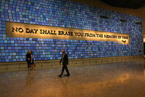 President Obama, Michelle Obama, Michael Bloomberg, Hillary Rodham Clinton, and Bill Clinton and tour the Sept. 11 museum.  (AP Photo/Carolyn Kaster) <span class=meta>Photo/John Munson</span>
