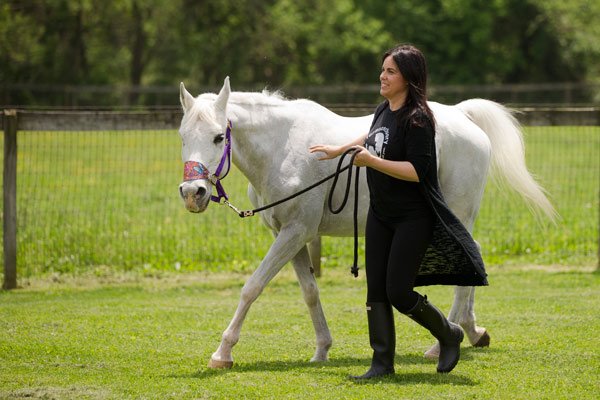 "<div class=""meta image-caption""><div class=""origin-logo origin-image ap""><span>AP</span></div><span class=""caption-text"">Tracey Stewart, leads Lily the horse she is adopting away at the end of a news conference Wednesday, May 25, 2016, in Kennett Square, Pa. (AP Photo/Matt Rourke)</span></div>"