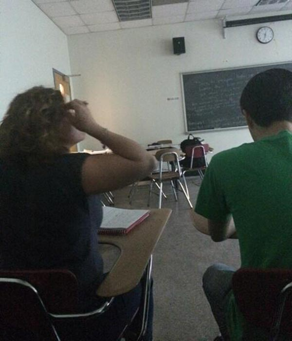 Police were called to the Community College of Philadelphia Wednesday after a report of a person with a weapon. @Nigeria1diva sent us this image from inside a classroom. <span class=meta></span>
