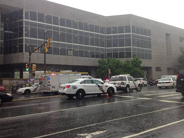 Police were called to the Community College of Philadelphia Wednesday after a report of a person with a weapon.