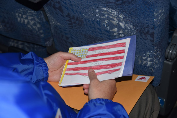 <div class='meta'><div class='origin-logo' data-origin='WPVI'></div><span class='caption-text' data-credit=''>All veterans on the Honor Flight Philadelphia trip received a package of mail on the way home to remind them of letters from loved ones.</span></div>