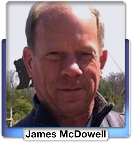 James McDowell, the pilot of the plane, from Georgetown, Delaware.