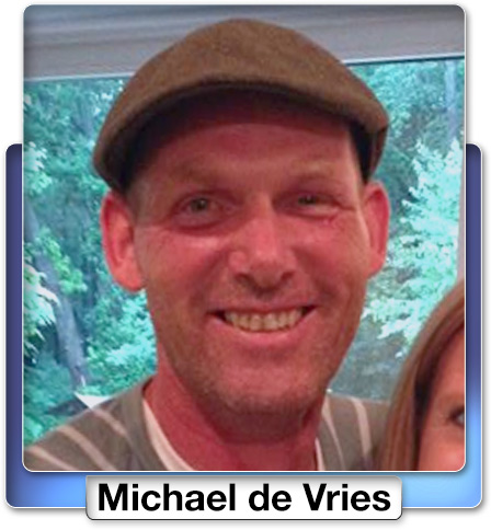 Michael de Vries, the co-pilot of the plane, from Marlon, New Jersey