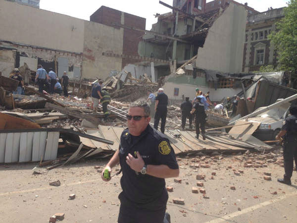 <div class='meta'><div class='origin-logo' data-origin='none'></div><span class='caption-text' data-credit=''>An Action News viewer sent in this photo of the collapse on 22nd and Market streets on June 5, 2013.</span></div>