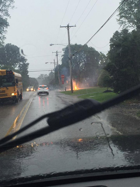 "<div class=""meta image-caption""><div class=""origin-logo origin-image wpvi""><span>WPVI</span></div><span class=""caption-text"">Action News viewer Kevin Varady sent in this photo of downed power lines in Havertown, Pa. </span></div>"