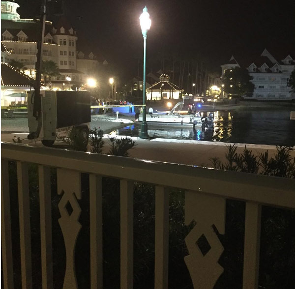 <div class='meta'><div class='origin-logo' data-origin='none'></div><span class='caption-text' data-credit='Instagram/ Katherine Popp'>Authorities search for a child who was dragged into the water by an alligator near Disney's Grand Floridian Resort & Spa in Orlando.</span></div>