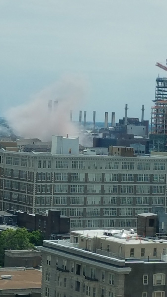 """<div class=""""meta image-caption""""><div class=""""origin-logo origin-image wpvi""""><span>WPVI</span></div><span class=""""caption-text"""">An explosion occurred at the Veolia Schuylkill Plant in South Philadelphia. (Aaron J)</span></div>"""