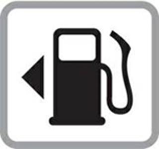 Fuel Gauge Symbol Gas tank indicator arr...