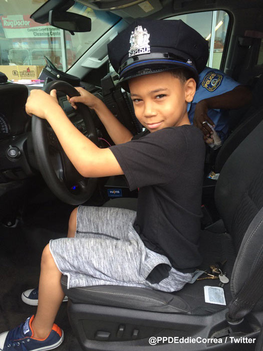 """<div class=""""meta image-caption""""><div class=""""origin-logo origin-image wpvi""""><span>WPVI</span></div><span class=""""caption-text"""">Philadelphia Police Officer Eddie Correa of the 26th District says young Jaden's grandmother wanted her grandson to meet a policeman. </span></div>"""