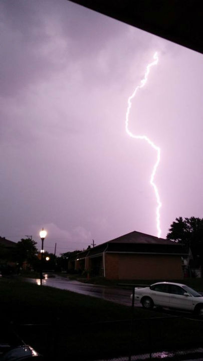 Lightning and heavy rains hit the Philadelphia area on July 14, 2014. <span class=meta>Fred Turtle from Berlin NJ / Facebook</span>