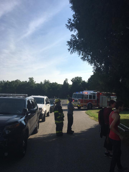 <div class='meta'><div class='origin-logo' data-origin='none'></div><span class='caption-text' data-credit='East Greenwich Township Fire & Rescue'>Authorities say a New Jersey woman trying to catch Pokemon in a cemetery ended up stuck in a tree and had to call 911 to rescue her.</span></div>