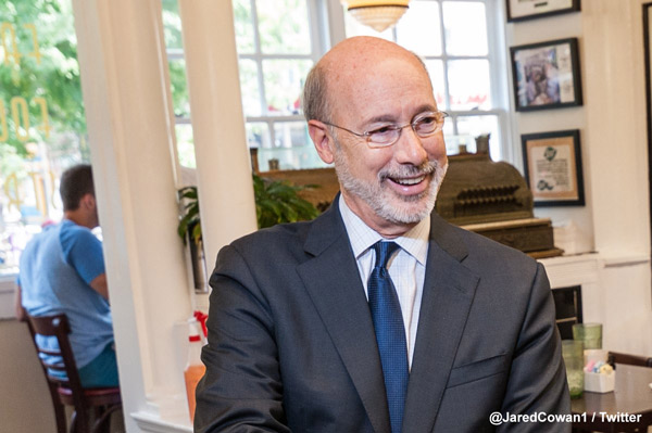 <div class='meta'><div class='origin-logo' data-origin='WPVI'></div><span class='caption-text' data-credit='Jared Cowan'>Pennsylvania Governor Tom Wolf</span></div>