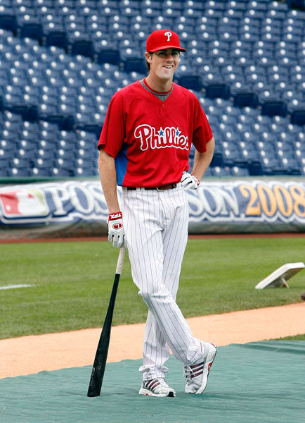 <div class='meta'><div class='origin-logo' data-origin='none'></div><span class='caption-text' data-credit='Photo/Tom Mihalek'>7.Philadelphia Phillies starting pitcher Cole Hamels waits to take batting practice during the team's baseball workout, Tuesday, Sept. 30, 2008, in Philadelphia.</span></div>