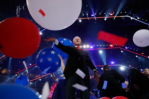 "<div class=""meta image-caption""><div class=""origin-logo origin-image ap""><span>AP</span></div><span class=""caption-text"">Former President Bill Clinton smiles as balloons fall after Democratic presidential nominee Hillary Clinton spoke during the final day of the Democratic National Convention. (AP Photo/Carolyn Kaster)</span></div>"