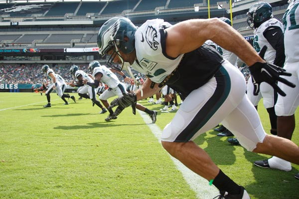 <div class='meta'><div class='origin-logo' data-origin='AP'></div><span class='caption-text' data-credit='AP Photo/Chris Szagola'>Philadelphia Eagles get ready for practice at NFL football training camp, Sunday, July 31, 2016, in Philadelphia.</span></div>
